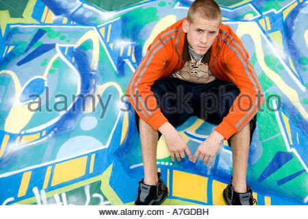 A teenage boy - Stock Photo