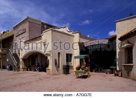 na usa arizona tucson old tucson studios reenactment of bank stock photo royalty free. Black Bedroom Furniture Sets. Home Design Ideas