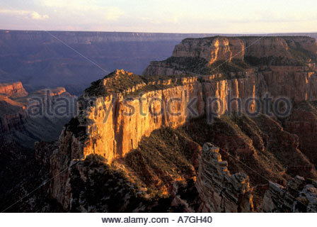 NA, USA, Arizona, Grand Canyon National Park. North Rim. View from Cape Royal Point - Stock Photo