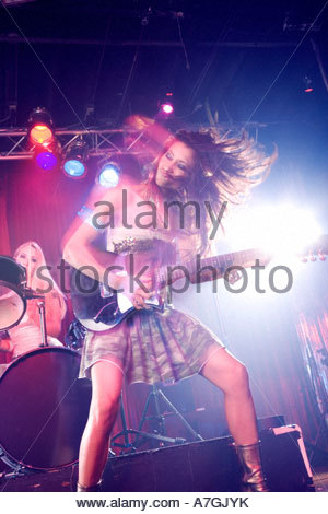 A pop group performing - Stock Photo