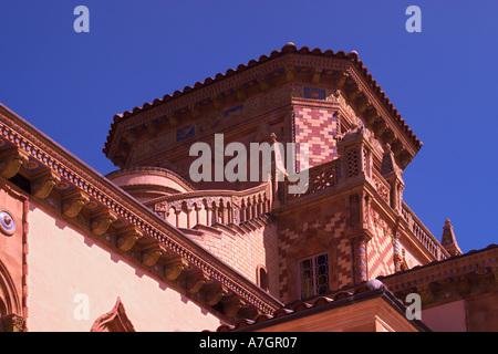 Architectural details of Ca d Zan Mansion, home, John & Mable Ringling, Sarasota, Florida - Stock Photo