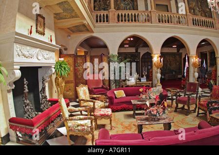 Interior of Ca d Zan Mansion home of John & Marble Ringling, Sarasota, Florida - Stock Photo