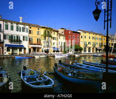 IT -  LAKE GARDA:  Lazise Harbour - Stock Photo