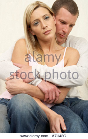 Young couple in an embrace - Stock Photo