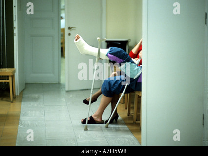 waiting in hospital - Stock Photo