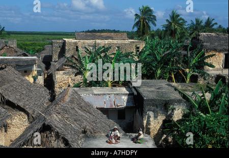Siyu town, Pate island, Lamu Archipelago, Kenya - Stock Photo