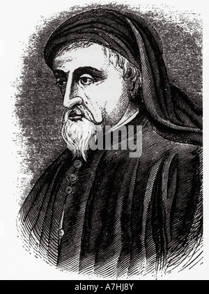 GEOFFREY CHAUCER  English poet bst know for his Canterbury Tales - Stock Photo