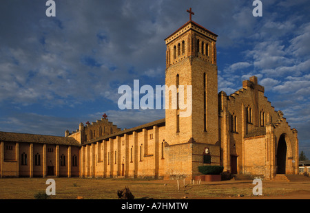 The Roman Catholic cathedral built in the 1930s is the largest in the country, Butare, Rwanda - Stock Photo
