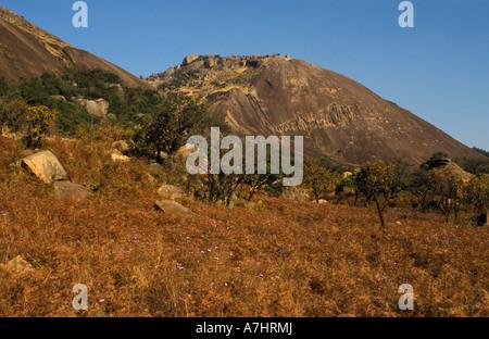 Sibebe rock a massive granite dome Mbabane Swaziland - Stock Photo