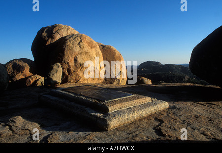 Cecil Rhodes grave Malindidzimu Matobo National Park Zimbabwe - Stock Photo