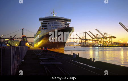 The Queen Mary 2 After Dawn Arrival To Los Angeles California Stock Photo Royalty Free Image