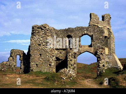 Pennard Castle, Gower, Wales - Stock Photo