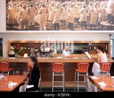 MODAA, Culver City, California. 2005. Restaurant Architect: SPF Architects - Zoltan Pali - Stock Photo