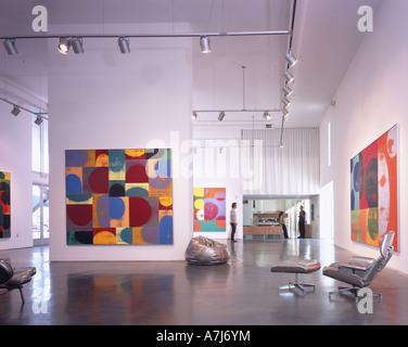 MODAA, Culver City, California. 2005. Gallery. Live work artists studio Architect: SPF Architects - Stock Photo