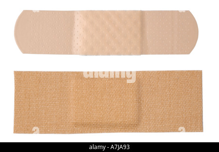 two types of adhesive bandages - Stock Photo