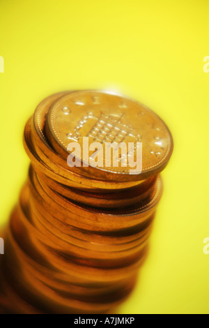 Pile of Pennies - Stock Photo