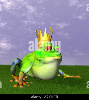 symbolic graphic for the fairytale the Frog Prince - Stock Photo