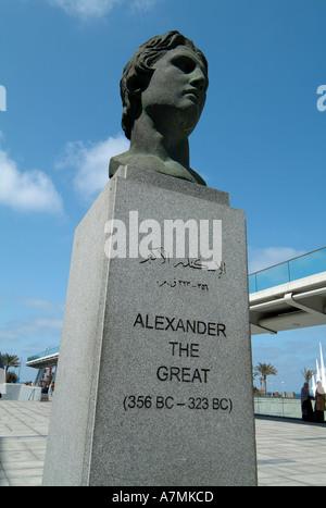 Alexander The Great Statue Alexandria Egypt Stock Photo