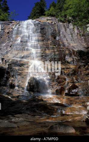 North America, US, NH, White Mountain NF. Tallest waterfall in NH.  Crawford Notch. - Stock Photo
