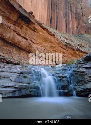 A waterfall on the Escalante River in Coyote Gulch, Grand Staircase-Escalante Nat'l Monument, UTAH - Stock Photo