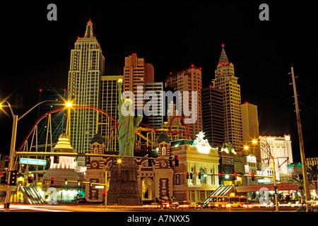United States, Nevada, Las Vegas city, New York-New York Hotel Casino, inaugurated the January 3rd of 1997 - Stock Photo