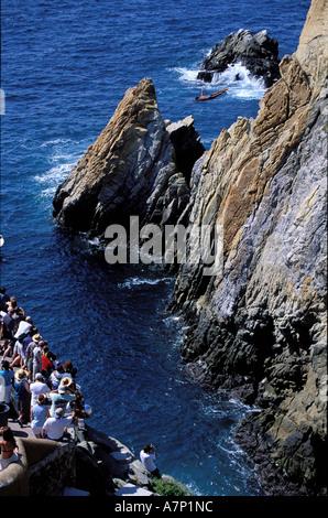 Mexico, Guerrero State, Pacific coast, Acapulco, the divers of la Quebrada - Stock Photo