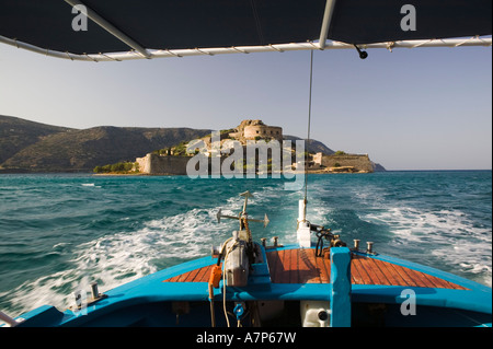 16th Century Venetian Fortress, Spinalonga Island, Lasithi Province, Crete, Greece - Stock Photo