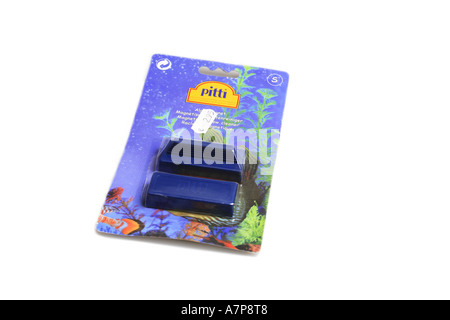 magnet for cleaning fish tank windows - Stock Photo