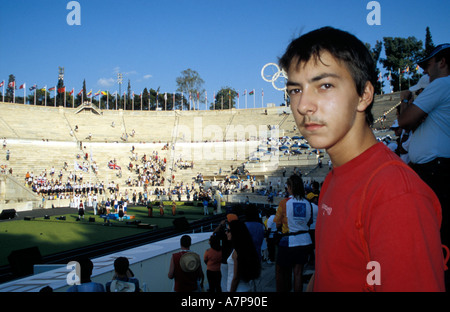 Spectator In The Panathinaiko Stadium - Stock Photo