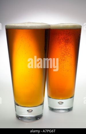 Traditional light Pale Ale in studio - Stock Photo