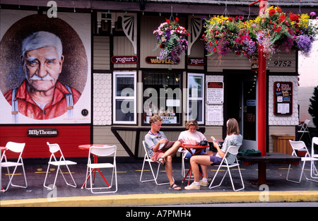 Canada, British Colombia, Vancouver island, Chemainus village - Stock Photo