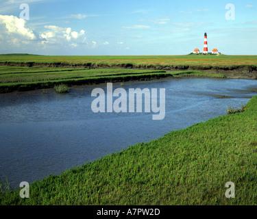 DE - SCHLESWIG HOLSTEIN: Westerhever Lighthouse near Sankt Peter Ording - Stock Photo