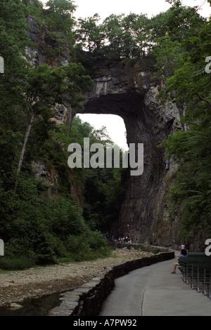 Natural Bridge in Virginia USA - Stock Photo