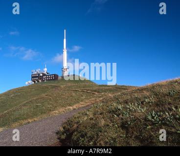 Puy de dome Auvergne region the summit central france. - Stock Photo