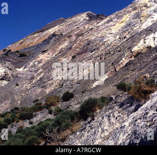 Low angle view of mountain, Aeolian Islands, Sicily, Italy - Stock Photo