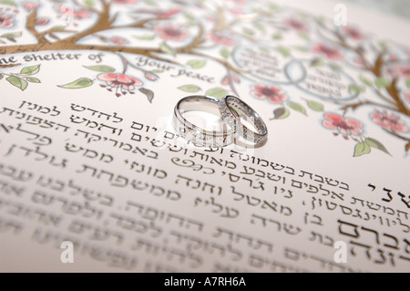 The Ketubah Is A Wedding Contract Typical Of Jewish Weddings