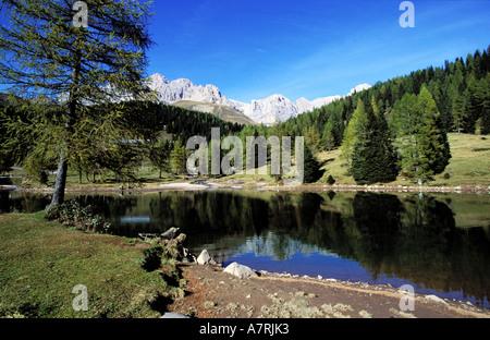 Italy, Venetia, Dolomites Natural Park, surroundings of Passo di San Pellegrino - Stock Photo
