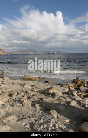 Rock formation on coast, Achill Island, County Mayo, Ireland - Stock Photo