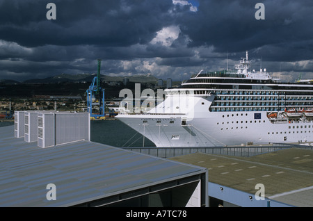 cruise ship costa atlantica in the port of marseille france - Stock Photo