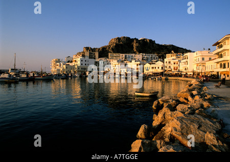 Greece, Dodecanese, Karpathos Island, the harbour of Pigadia - Stock Photo