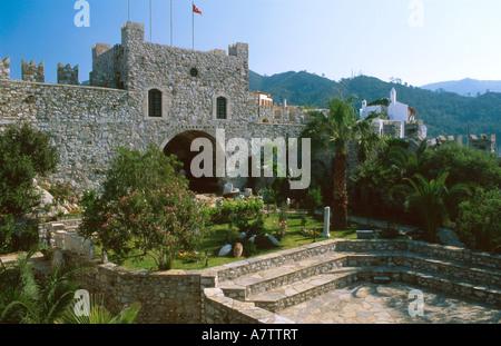 Garden in front of museum, Mugla, Turkey - Stock Photo