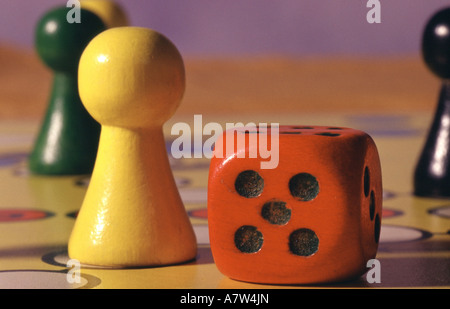Section of ludo field - Stock Photo