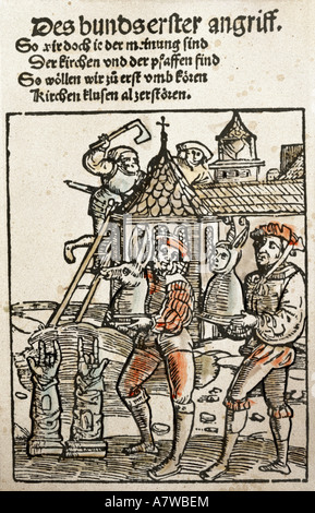 Murner, Thomas, 24.12.1475 - before 23.8.1537, German clergyman, humanist and author/writer, works, pamphlet, the - Stock Photo