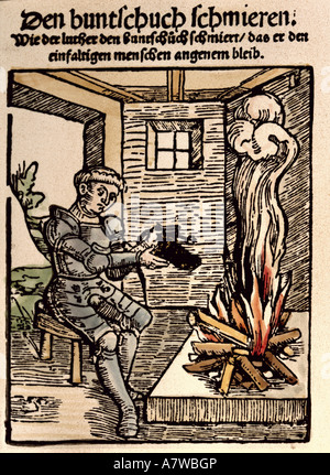 Murner, Thomas, 24.12.1475 - before 23.8.1537, German clergyman, humanist and author/writer, works, pamphlet, greasing - Stock Photo