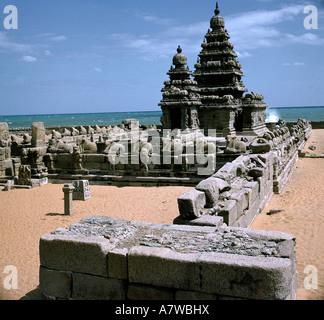 geography / travel, India, Mahabalipuram (Mamallapuram), temples, temple, Palava dynasty, 7th century, Nandi, ruin - Stock Photo