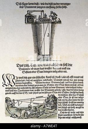 Apianus, Petrus, 16.4.1495 - 21.4.1552, German academic, works, 'Das Instrument Buch', Ingolstadt, 1533, 3rd chapter, - Stock Photo