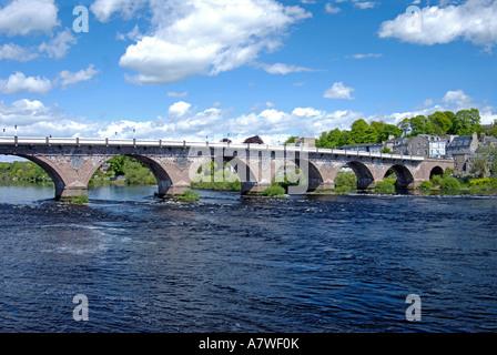 Tay Bridge, Perth City  XPL 6388 - Stock Photo