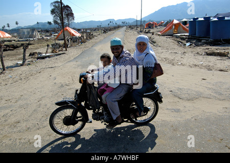 Indonesia Sumatra Banda Aceh Post Tsunami Devastated Lhoknga Coast - Stock Photo