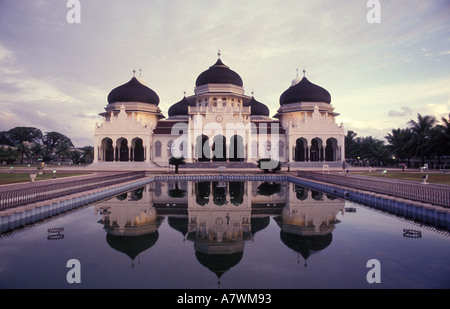 Indonesia Sumatra Aceh Banda Aceh The Grand Mosque or Mesjid Baiturrahman in the center of town - Stock Photo