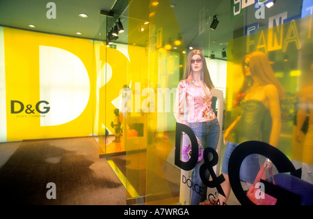 Italy, Lazio, Rome, Dolce Gabbana shop on the Via del Babuino - Stock Photo